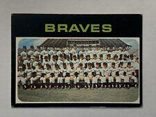 1971 Topps #652 Atlanta Braves Team Card W/ Hank Aaron High Number SP EX