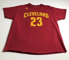 Adidas NBA Lebron James Cleveland 23 Adult Large L Red Tee T Shirt Short Sleeves