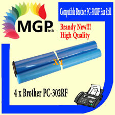 4x BROTHER PC-302RF COMPATIBLE FAX Roll PC302RF PC-302 PC302 917 940 920 921 930