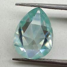 Rose Cut Loose Moissanite Use 4 Ring 1.11 Ct 7.41x5.34 Mm Vvs1 Peacock Blue Pear