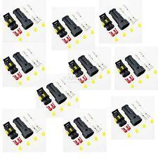 10x Superseal 2-polig Stecker Steckverbinder Wasserdicht für Auto KFZ Boot
