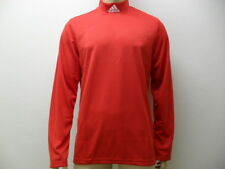 Adidas Stand Up Long Sleeve Shirt Turtleneck Sweater by Size XS TO XXXL Red