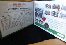 2014 GUERNSEY SILVER PROOF £5 COIN PNC + COA 100th ANN FIRST WORLD WAR TRENCHES
