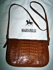 BORSA MARIANELLI COCCODRILLO CROCODILE LEATHER BAG 100% MADE IN ITALY+ DUSTY