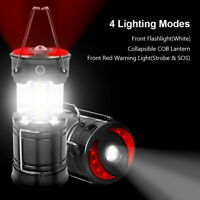 Rechargeable LED Camping Lantern Magnetic COB Flashlight 2 Power Supply  USA