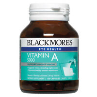 BLACKMORES VITAMIN A 5000IU SUPPORTS NIGHT VISION 150 CAPSULES EYE HEALTH
