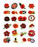Red flower P0PPY Badges Pin Target Flower Brooch Enamel 2020 lest We Forget UK