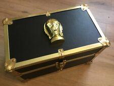 """Great Gift - """"Star Wars"""" Miniature """"Jedi"""" Foot Locker - C3PO Head on Lid"""