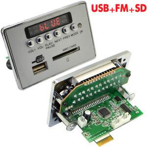 12V Autos Bluetooth Wireless MP3 Decoder Board Audio Module USB SD TF FM Radio