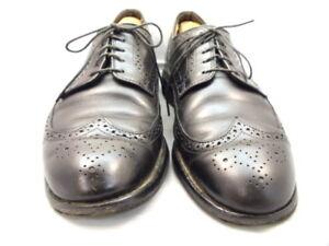 """Allen Edmonds Men's Shoes """"LGA"""" Wingtip Oxfords Black 9 D (136)"""