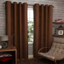 Premium Brown Plain 7Ft Door Curtains-Set of 2