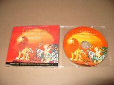 Elton John The Lion King Circle Of Life 4 Track cd single  1994 Limit/Edit Ex co