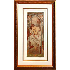 """""""Nights Repose"""" By Alphonse Mucha Ltd Edition #42/475 Giclee on Archival Paper"""