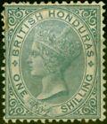 British Honduras 1887 1s Grey SG22 Average Mtd Mint