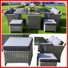NEW! Wicker 7 Piece Outdoor Furniture Set Table Lounge Armchairs Setting Garden