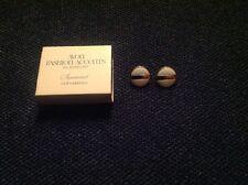 Vintage Avon Summerset Clip Earrings White/Gold NIB 1977