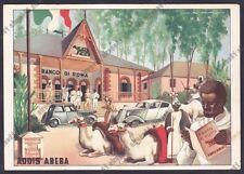 ETIOPIA Ethiopia COLONIE ADDIS ABEBA 10b A.O.I. Illustr. ROVERONI BANCO DI ROMA