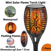 Mini LED Solar Tiki Torch Flickering Flame Solar Torch Light Outdoor Waterproof