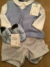 Mothercare Peter Rabbit Grey 3 Piece Shorts Set & Pram Shoes Age 1-3 Months 🐰