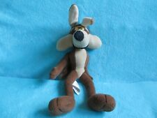 """Quiron Warner Bros Looney Tunes Wile E Coyote LARGE Soft Plush Stuffed Toy 14"""""""