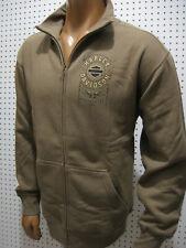 nwt Mens HARLEY DAVIDSON *Line Wing* Full Zip Light Brown Sweatshirt