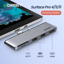 Ugreen Docking Station For Microsoft Surface Pro 4/5/6 USB 3.0 + 4K HDMI Ports