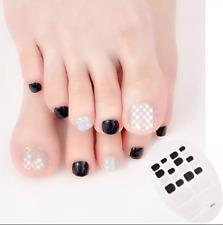 22pcs Fashion Summer Toe Nail Art Decoration Self-stick Toe Nail Stickers Wraps