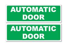 PORTA Automatica Verde orizzontale, Auto, Furgone Adesivo Decalcomania, Business