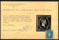 Sardegna 1851 Sass. 2h Usato 100% Raybaudi Certificato