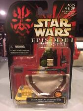 MOC Star Wars 1999 Episode 1 TATOOINE Accessory Set Poncho Droid Datapad 91931