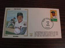 1983 Tom Seaver Returns New York Mets Cachet Envelope Z Silk