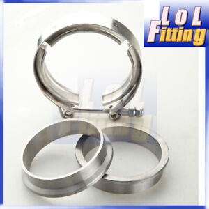 2.25'' inch Turbo /Exhaust Downpipe Mild Steel Flanges + 304 SS V-Band Clamp