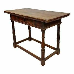 19th century Spanish Writing Table -Carved Walnut