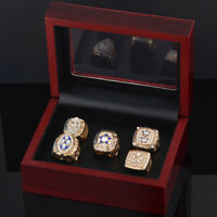 5 Rings/Set 1971 1977 1992 1993 1995 Dallas Cowboys Championship Rings with Box