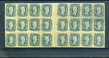Confederate States Scott #11  Large Gutter Block of  24 Stamps (#CSA11-4)
