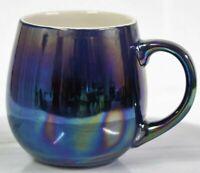 500ml Stoneware Reactive Glazed Mug Iridescent Rainbow Polished Coffee Tea Cup