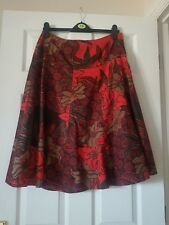 Women's 100% Cotton Flare Floral skirt Skirts in Reds by M&co size 12
