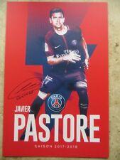 Autographe carte JAVIER PASTORE PSG PARIS ST GERMAIN 17/18 2017/2018 Argentine