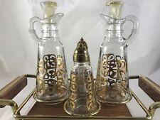Vintage Glass Cruet Set The Gailstyn Company, Inc NY USA