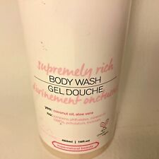 NEW Delectable Supremely Rich Body Wash Coconut 16 oz. Supernatural Beauty
