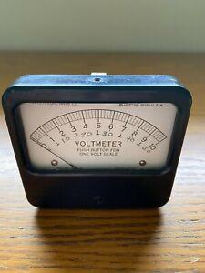 Vintage Triplett Panel Meter  Volt meter 0 to 10 Volts  Model 421-A Untested