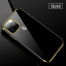 For iPhone 2019 Case 11 Pro Max Luxury Plating Soft TPU Rubber Clear Slim Cover