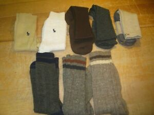 8 Pair of New Men's Socks - Polo, Keen, Gold Toe - Size 8-12 -- NWOT