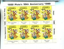 1980 Pluto 50Th Anniversary Scott 694 Dominican $2 8 Stamp Sheet Mnh