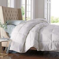 Goose Down Comforter White Blanket Luxury Bedroom Hypoallergenic Queen Size