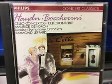 CD HAYDN BOCCHERINI  CELLO CONCERTOS  MAURICE GENDRON  LONDON SYM.ORCH