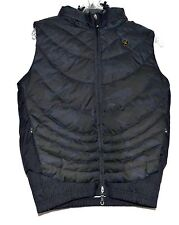 DC Black & Gray Down Womens Puffer Vest Exotex Treated with Detachable Hood Sz M