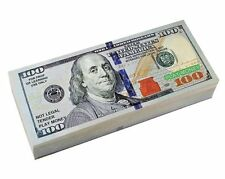 Six Packs of Best Real looking Play Money, Smaller Size, Packs of: $1, $5, $10,