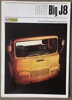 1971 Guy Big J8 original British sales brochure