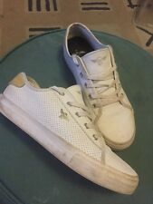 Mens Designer Casual White Trainers By Creative Recreation - Size 9 - BARGAIN